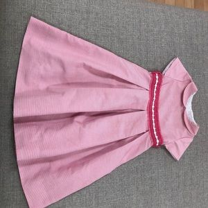 Florence Eiseman pink white seersucker dress 6